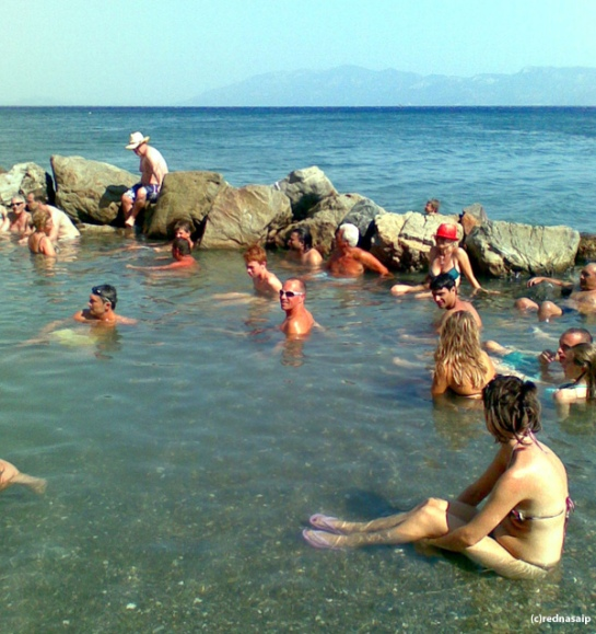 Therma Loutra Kos - hot springs with too many people to make it an enjoyable experience